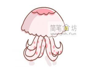 彩色水母的简笔画教程