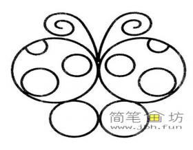 用简单的圆画蝴蝶简笔画步骤教程