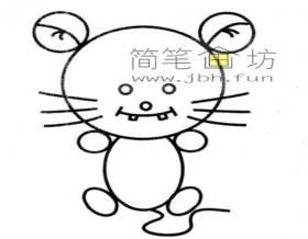 儿童简笔画小老鼠的画法步骤教程