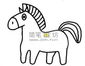 怎么画马?简笔画小马的画法教程