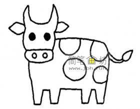 怎么画奶牛简笔画教程