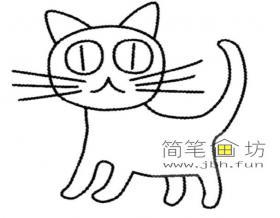 3个步骤教你画幼儿简笔画小猫