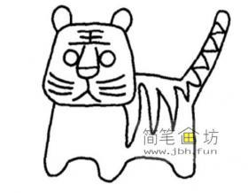 简笔画小老虎的画法