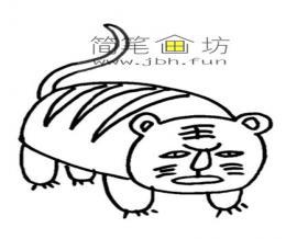 儿童简笔画大老虎的画法教程