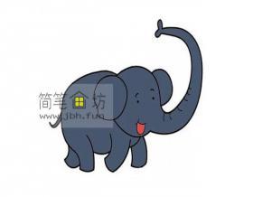 图解可爱的大象的简笔画教程