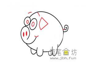 简笔画简单的小猪的绘画教程