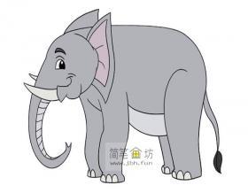彩色大象的简笔画图片大全
