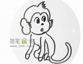 可爱的小猴子的简笔画详解