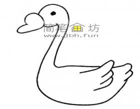 简单的步骤教你画天鹅的简笔画