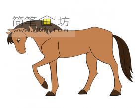 骏马的简笔画素材2幅