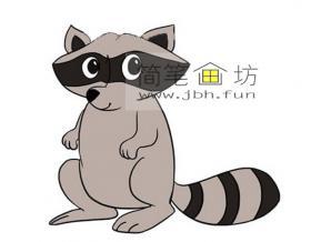 卡通小浣熊的简笔画图片