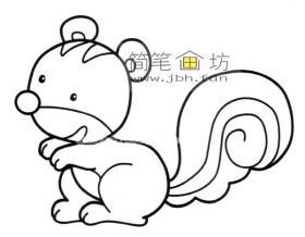 幼儿简笔画松鼠的简笔画图片