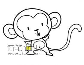 可爱的小猴子的简笔画
