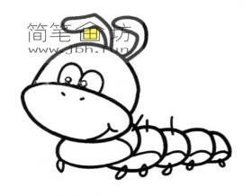 卡通毛毛虫简笔画图片