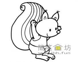 卡通松鼠简笔画图片
