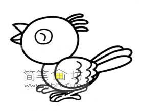 卡通小鸟简笔画图片1幅