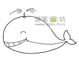 开心的鲸鱼简笔画图片