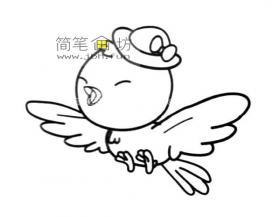 开心的卡通小鸟简笔画图片