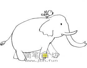 可爱大象简笔画图片