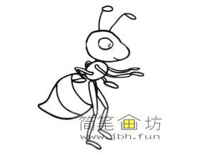 可爱的蚂蚁简笔画图片