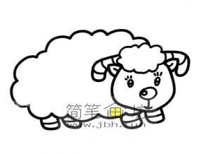可爱的小绵羊简笔画图片