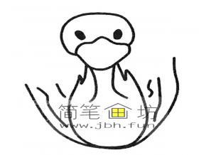 可爱的小天鹅简笔画图片