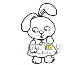 可爱的小兔子简笔画图片