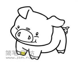 可爱的猪宝宝简笔画图片