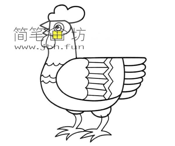漂亮的公鸡图片1幅