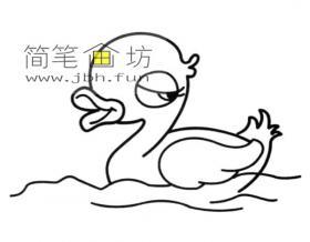 漂亮的鸭子小姐简笔画图片