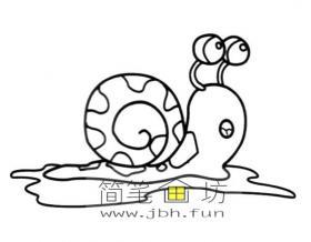 水里的蜗牛简笔画图片