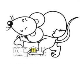 偷东西的卡通老鼠简笔画图片