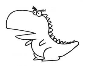 卡通恐龙简笔画图片