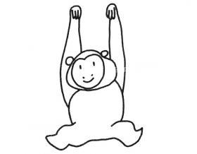 机灵的长臂猿简笔画图片