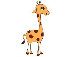 长颈鹿简笔画图片【彩色】