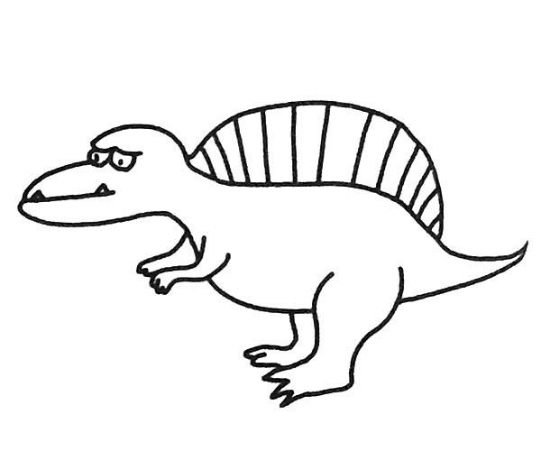 恐龙简笔画图片(3)
