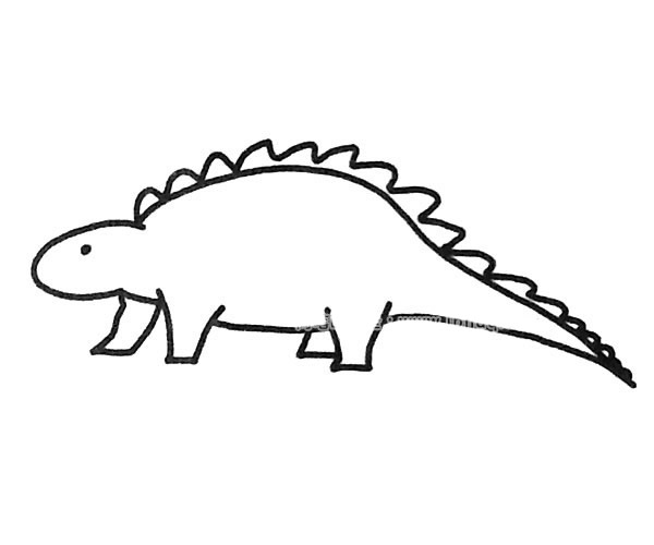 恐龙简笔画图片(1)