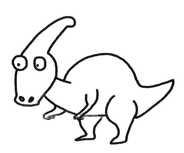 恐龙简笔画图片(6)