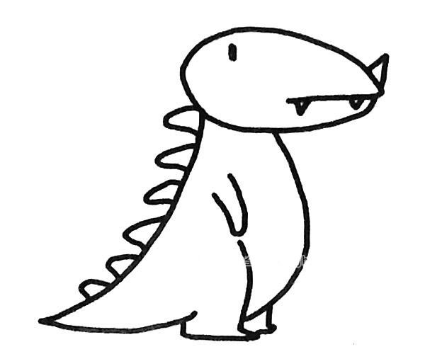 恐龙简笔画图片(5)