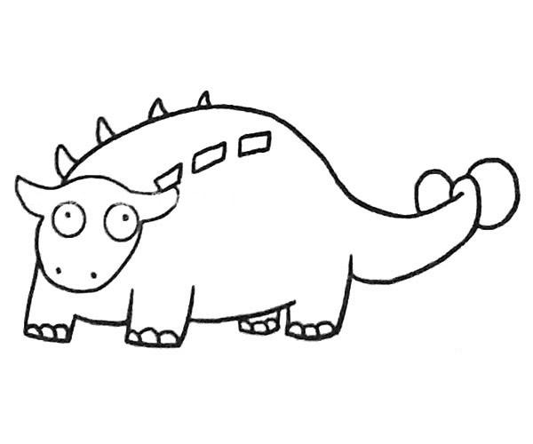 恐龙简笔画图片(8)