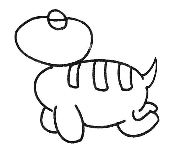 恐龙简笔画图片(12)