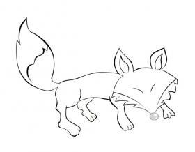 狡猾的狐狸简笔画图片