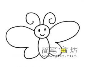 美丽的卡通蝴蝶的简笔画图片