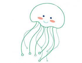 可爱的水母简笔画