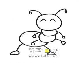 可爱的卡通蚂蚁的简笔画素材6幅