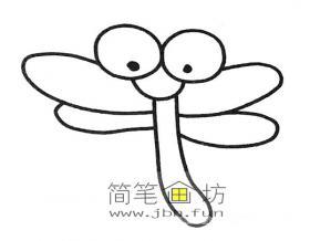 6款卡通蜻蜓的简笔画大全