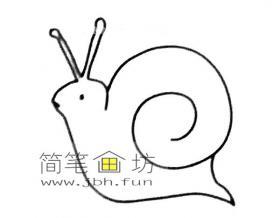 蜗牛的简笔画素材大全
