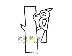 儿童简笔画:啄木鸟的简笔画素材6幅