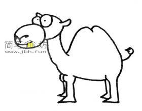简单的步骤教你画骆驼的简笔画
