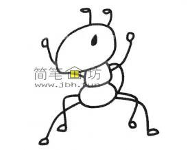 一步步的教你画蚂蚁的简笔画
